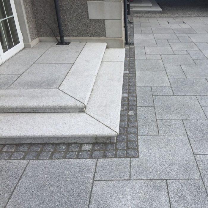 Silver granite step