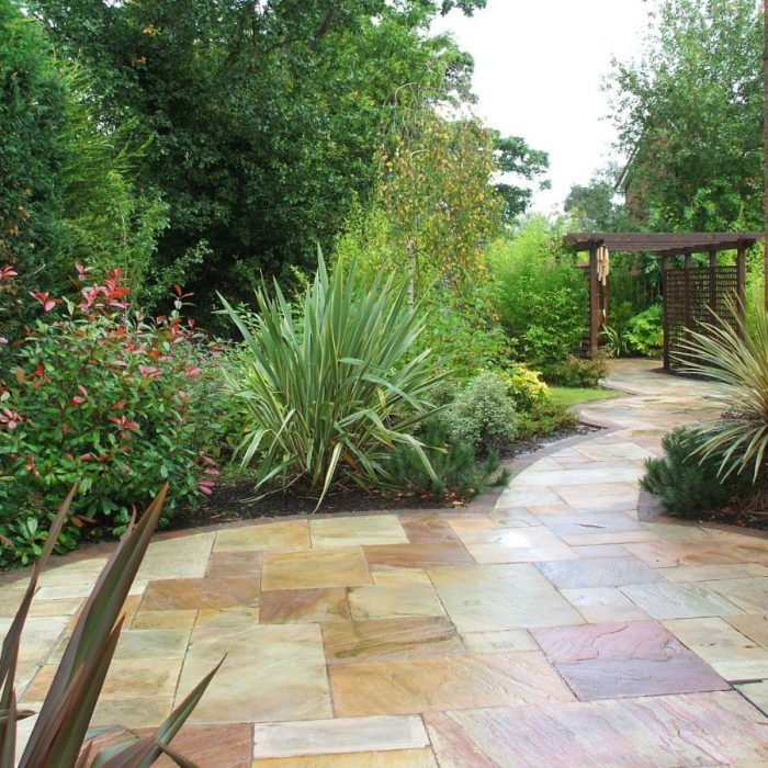 Tinted Mint Sandstone Paving Calibrated 22mm thick Patio Pack 4 sizes